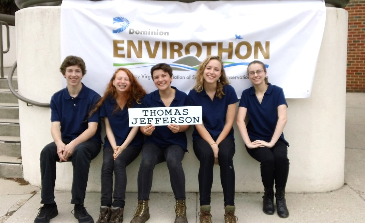 Albemarle HS at state Envirothon competition