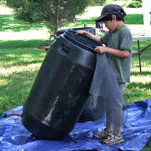 Rain barrels conserve water and protect surface water quality