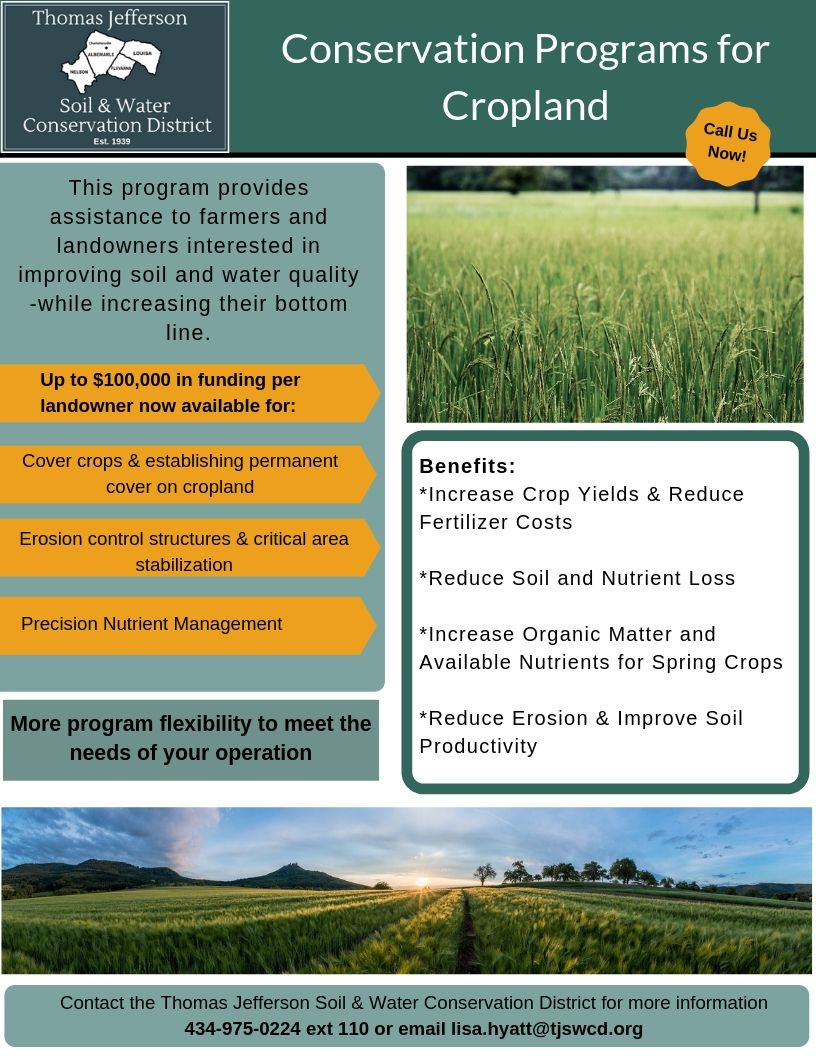 Cropland Program Flyer