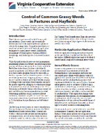Control of Common Grassy Weeds in Pastures and Hayfields