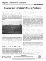 Managing Virginia's Steep Pastures