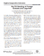 No-Till Seeding of Forage Grasses and Legumes