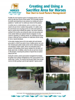 Creating and Using a Sacrifice Area for Horses