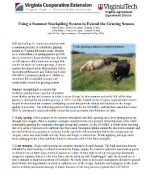 Using a Summer Stockpiling System to Extend the Grazing Season