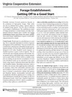 Forage Establishment: Getting Off to a Good Start