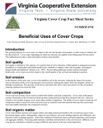 Beneficial Uses of Cover Crops
