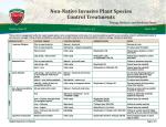 Non-Native Invasive Plant Species Control Treatments