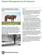 Pasture Management by the Seasons