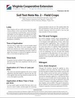 Soil Test Note No. 2 – Field Crops