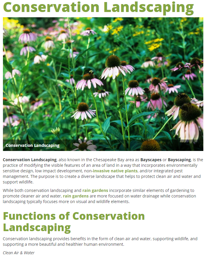 Conservation Landscaping