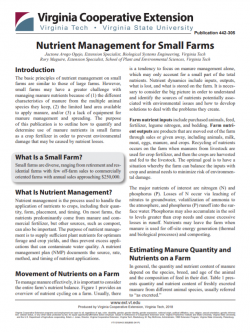 Nutrient Management for Small Farms