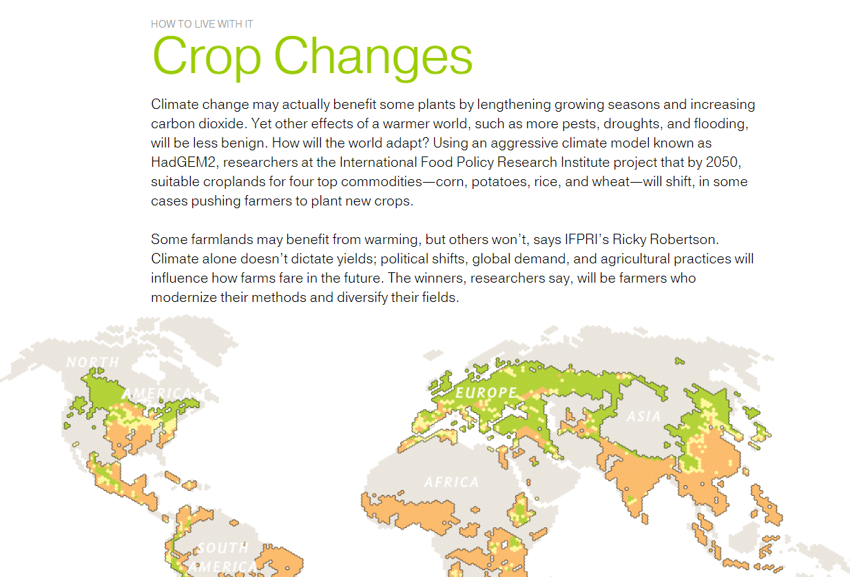 Crop Changes: How to Live With It